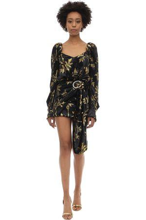 DODO BAR OR | Mujer Vestido Drapeado De Terciopelo Jacquard /dorado 40