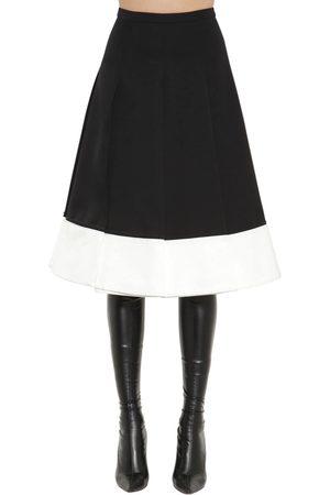 Rochas | Mujer Falda En A De Lana Japonesa /blanco 44