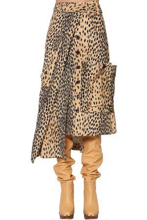 Jacquemus | Mujer Falda Asimétrica De Terciopelo Estampado 34