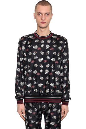 Dolce & Gabbana   Hombre Sudadera De Sarga De Seda Con Estampado 46