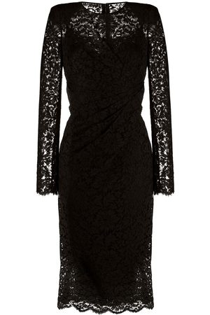 Dolce & Gabbana Vestido midi de encaje fruncido