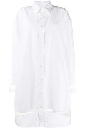 Maison Margiela Vestido camisero con paneles translúcidos