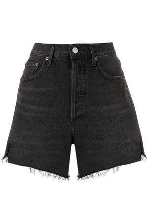 AGOLDE Pantalones vaqueros cortos deshilachados