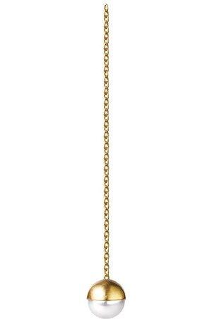 SHIHARA Pendiente de cadena con perla 0º