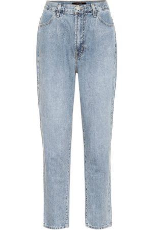 J Brand Jeans Peg cropped de tiro alto