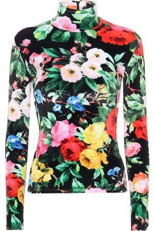 RICHARD QUINN Camisa de terciopelo floral