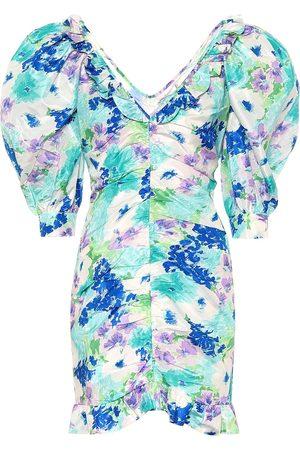 Alessandra Rich Vestido corto de seda floral