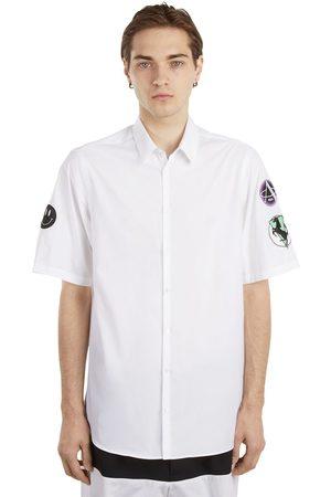 RAF SIMONS | Hombre Camisa De Popelina De Algodón Con Parches 44