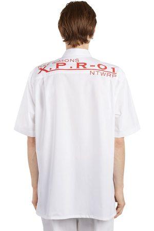 RAF SIMONS Hombre Manga corta - | Hombre Camisa Oversize De Popelina De Algodón Estampada 44