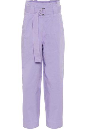 Ganni Pantalones rectos de tiro alto