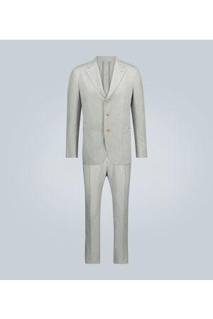 CARUSO Traje de algodón y seda de rayas