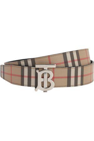 Burberry | Hombre Cinturón Reversible De Piel 35mm /negro 95