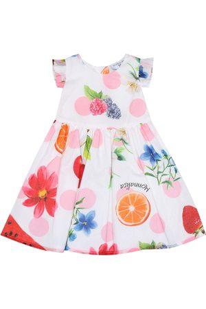 MONNALISA Bebé - vestido de algodón estampado