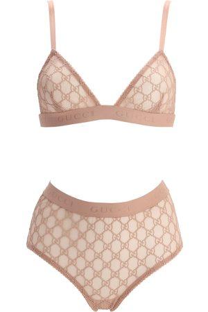 Gucci | Mujer Set De Lencería De Tul Transparente Xs