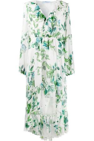 BLUMARINE Mujer Estampados - Vestido floral con volantes