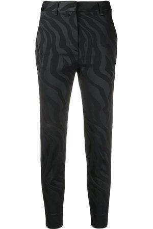 Roberto Cavalli Pantalones con motivo de cebra jacquard