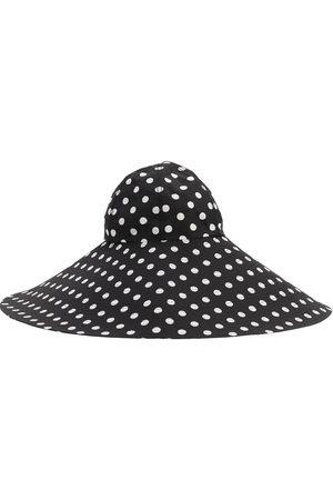 MARIANNA SENCHINA | Mujer Sombrero De Ala Ancha De Nylon Estampado /blanco S