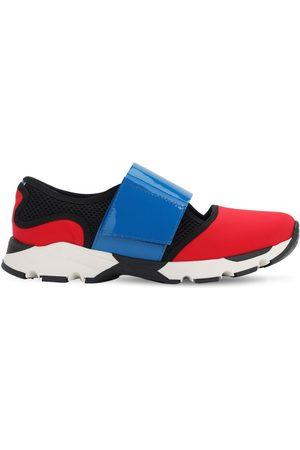 Marni | Niña Sneakers De Piel Con Correas De Neopreno 35