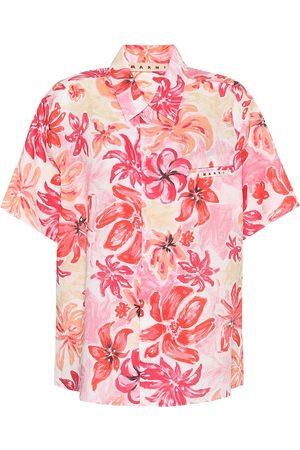 Marni Mujer Manga corta - Camisa de ramio floral