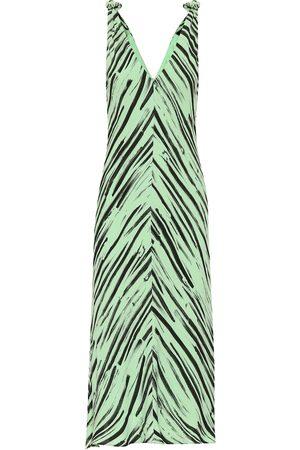 Proenza Schouler Vestido de crepé estampado