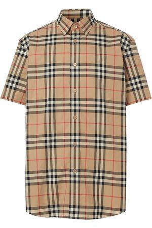 Burberry Camisa a cuadros de manga corta