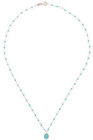 GIGI CLOZEAU Collar de diamantes con cuentas turquesas