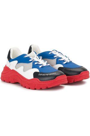 Emporio Armani Colour-block lace-up sneakers