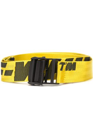 OFF-WHITE Cinturones - INDUSTRIAL BELT YELLOW BLACK