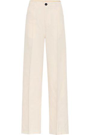 Jil Sander Pantalones de algodón y seda