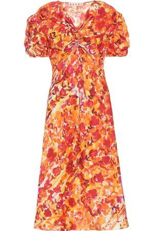 Marni Vestido de seda floral