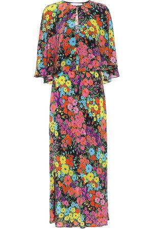 Les Rêveries Exclusivo en Mytheresa – vestido largo de seda floral