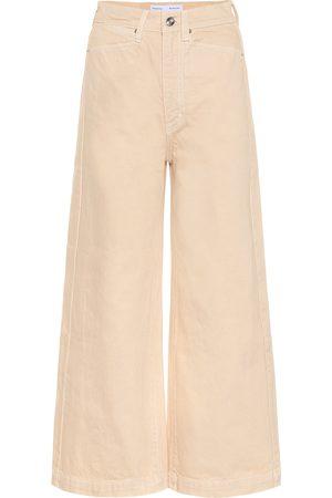 Proenza Schouler Pantalones anchos de algodón