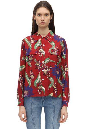 RE/DONE | Mujer Camisa De Crepé Estampada /multi Xs