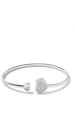 Chopard Brazalete Happy Hearts con diamantes en oro blanco 18kt