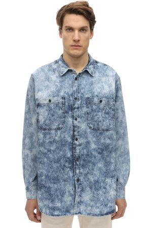 Isabel Marant | Hombre Oversize Bleached Cotton Denim Shirt S