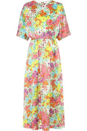 Les Rêveries Vestido de seda floral