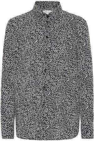Saint Laurent Camisa de algodón estampada