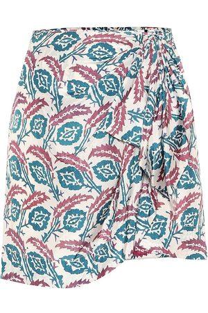 Isabel Marant Minifalda Renzia de seda estampada
