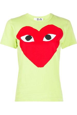 Comme des Garçons Mujer Tops - Camiseta con estampado de corazón
