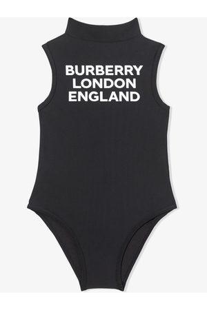 Burberry Bañador con estampado del logo y cuello alzado