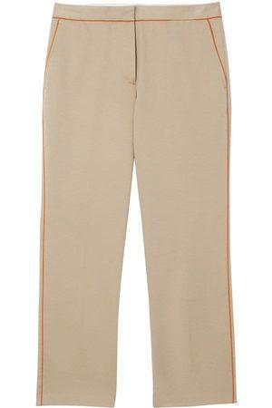 Burberry Pantalones capri con ribete en contraste