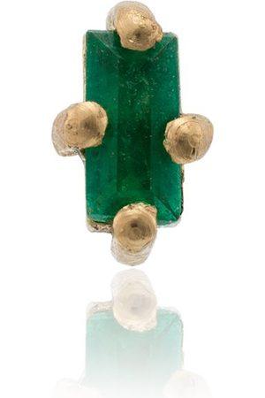 Lizzie Mandler Pendiente con esmeralda en oro amarillo de 18kt
