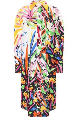 Marni Vestido de algodón estampado