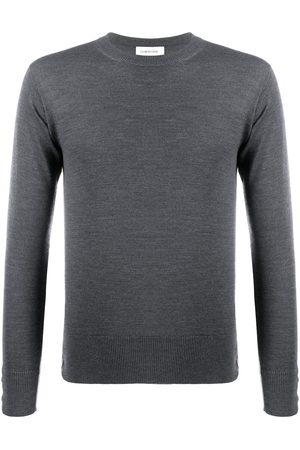 Thom Browne Jersey con cuello redondo de lana merino