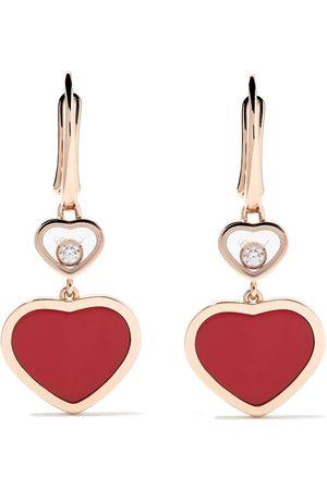 Chopard Pendientes Happy Hearts con colgante con diamantes en oro rosa 18kt