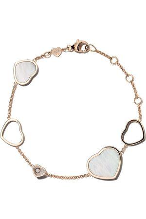Chopard Mujer Pulseras - Pulsera Happy Hearts con piedra rosa y diamante en oro rosa 18kt