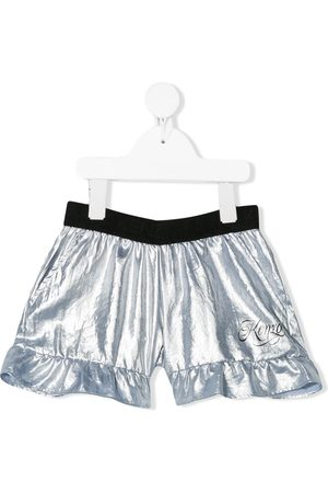 Kenzo Ruffle-trimmed metallic shorts