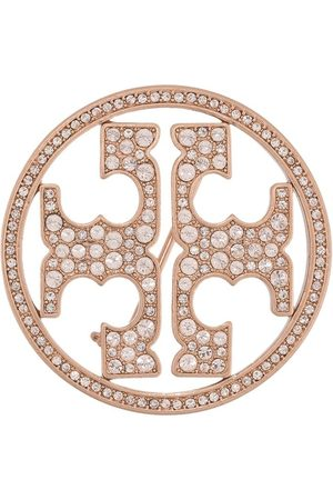 Tory Burch Mujer Broches - Crystal-embellished logo brooch