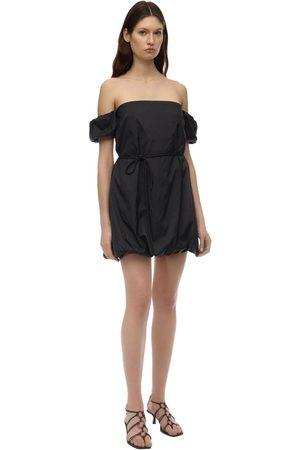 Staud | Mujer Vestido De Nylon Con Hombros Descubiertos 0