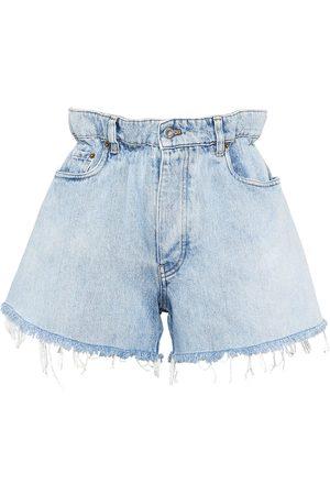 Miu Miu Mujer Vaqueros - Pantalones vaqueros cortos de talle alto